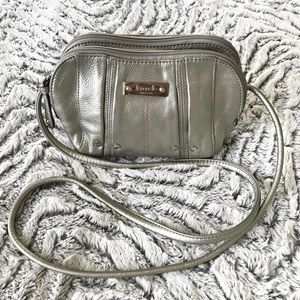 Tignanello | Small Silver Crossbody Bag